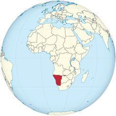 Namibia on the globe (Africa centered).svg