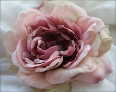 Flower Hair Clip Cabbage Rose Vintage Button by GracefullyGirly, $34.00