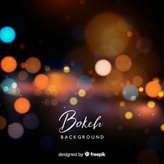 Creative blurred bokeh background Free Vector