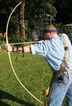 Test Shooting a Longbow