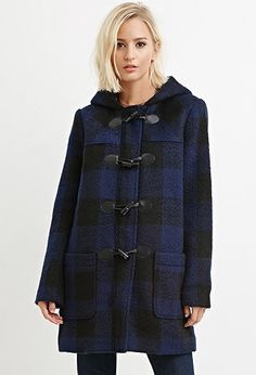 Toggle-Front Plaid Coat | Forever 21 - 2000141587