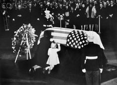 Jackie and Caroline Kennedy at John F. Kennedy's funeral