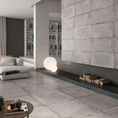 Cement Concrete Effect Floor Tiles
