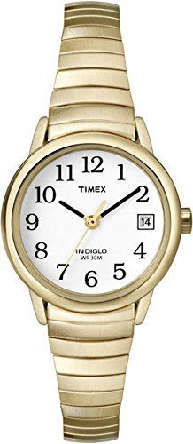 Timex T2H351 Ladies White Gold Watch -- To view further for this item, visit the image link.