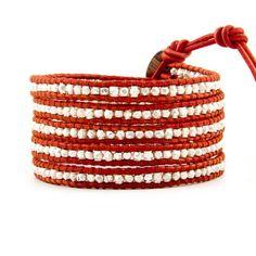 I love...love...love my Chan Luu sterling wrap bracelet...perfect pop of color