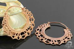 18K rose gold plated 3rd Chakra hoops