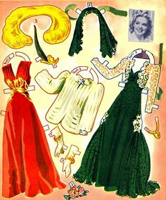 Alice Faye paper Dolls and Costumes (4 of 10), 1941 Merrill #4800