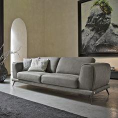 Divano in pelle di Design - Denver - Collezione EMPORIO di Doimo Salotti.