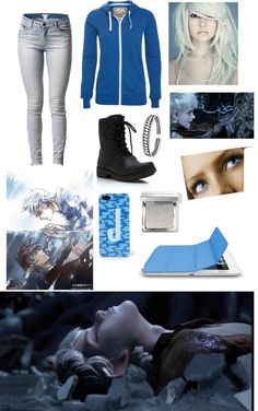 """""""Female Jack Frost"""" by elianazpurple ❤ liked on Polyvore"""