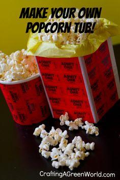 Make a DIY Popcorn Tub!