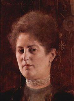Portrait of a lady - Gustav Klimt 1894, oil on canvas