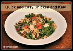 Quick and Easy Chicken and Kale