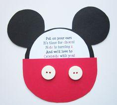 Invitaciones de cumpleaños Mickey