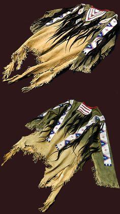 Native American War Shirts of the Plains Indian / Sioux, Cheyenne, Blackfeet, etc.