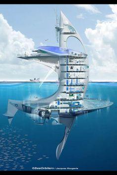 Colossal SeaOrbiter Research Ocean Skyscraper To Begin Construction In 2012