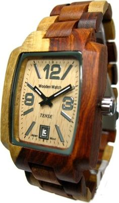 COol Wooden Watches - Special Offers Available Click Image Above: Tense Wood Mens Sandal Wood Watch - Wood Bracelet - Wood Dial - J8102i  - Who Wooden? Who Wouldn't!