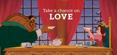 Dale una oportunidad al amor. #ValentinesDay #Disney #BeautyandtheBeast