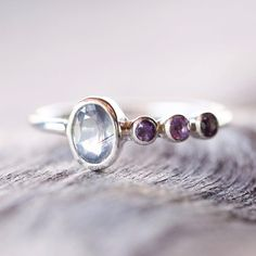 Sapphire and Amethyst Ring