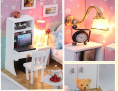 Doll House Diy 3D Miniature Handmade Assembled Wooden Cabin Model Building Kits Dollhouse Birthday Gft Toy The Dream attic-inDoll Houses from Toys & Hobbies on Aliexpress.com | Alibaba Group