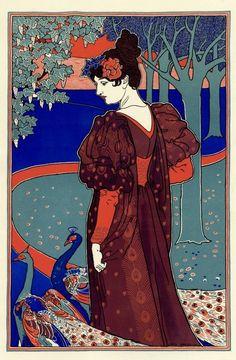 La Femme au Paon by Louis Rhead 1897.