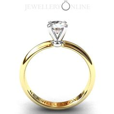 Four prong half carat round brilliant solitaire diamond engagement ring. two tone 18k gold. Simplicity. see our website for more details www.nzjewelleryonline.com #diamond ring #engagement ring #wedding ring