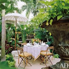 Exotic Outdoor Space by Diane Burn in West Palm Beach, Florida