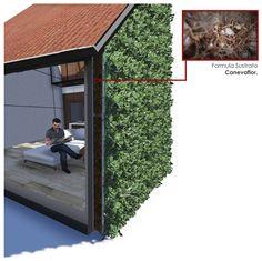 Materiales: Muros Verdes / Descontaminantes, Acústicos y Térmicos,Corte Muro Térmico