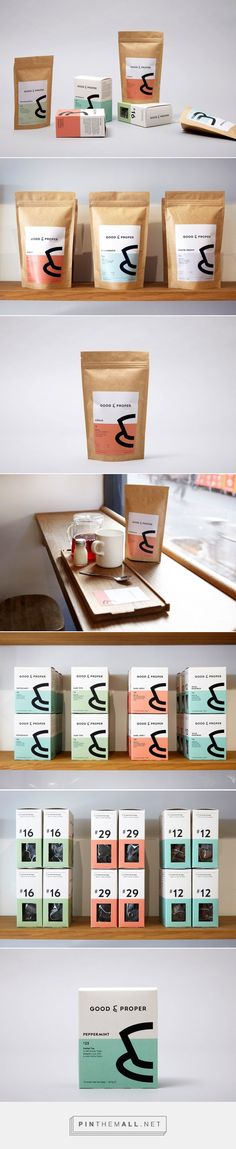 Good & Proper Is Perfection In A Cup —tea packaging by Agency Studio Thomas