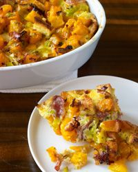 Butternut Squash Casserole with Leeks, Prosciutto and Thyme - Butternut Squash from Food & Wine