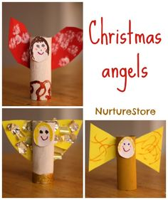 Christmas angel craft for kids ~ sweet and simple, and each child can add their own creative ideas.