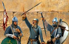 Troops of the First Crusade in Jerusalem Medieval World, Medieval Knight, Medieval Armor, European History, British History, Norman Knight, Ottonian, Crusader Knight, High Middle Ages