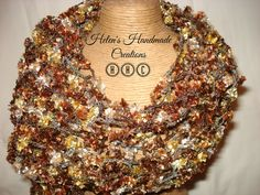 crochet scarf accessories / Gold  brownbronze by helenshmcreations  Challenge Your Creativity: https://www.facebook.com/groups/1426448577629600/