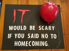 Homecoming poster Homecoming dance proposal It the movie inspired Homecoming Poster Homecoming Tanzvorschlag Es ist der Film inspiriert Asking To Homecoming, Cute Homecoming Proposals, Homecoming Signs, Hoco Proposals, Homecoming Queen, Homecoming Dance, Formal Proposals, Halloween Tanz, Halloween Gifts