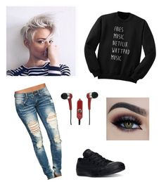 Untitled #319 by laurel8760 on Polyvore featuring polyvore, beauty, Mizco, Wet Seal and Converse