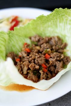 Asian Turkey Lettuce Wraps (low fat/low carb)   Naughty Carbs   #diabeticrecipes  #lowcarb