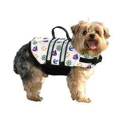 Paws Aboard Dog Life Jacket Medium Nautical 20-50 lbs - http://www.thepuppy.org/paws-aboard-dog-life-jacket-medium-nautical-20-50-lbs/