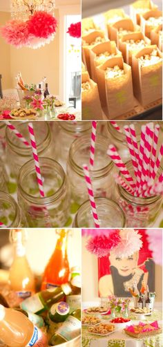Cute bridal shower... like the straws and bright colors