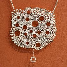 Silver necklace by Anna Atterling  what a beauty