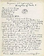 Frida Kahlo, Coyoacan, Mexico letter to Clara Strang Weatherwax, Berkeley, Calif.