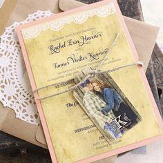 Vintage Doily Wedding Invitation