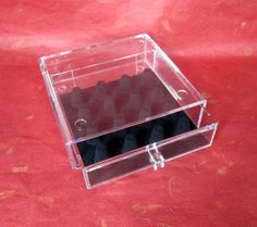 Lucite Square Ring Drawer from For Your Ears by LyricalVintage