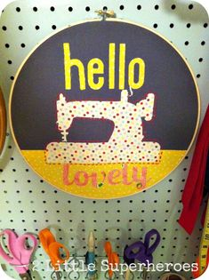 Hometalk :: Sewing Room Art