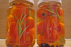 Würztomaten oder eingelegte, frische Party - Tomaten 1