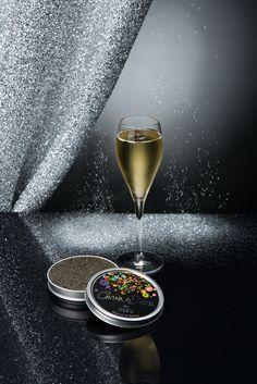 Caviar de Noël et champagne