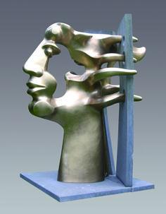 Skulptur Fons Bemelmans *1938 - Maastricht Gea - Mutter Erde, 1996 Bronze 3/3, Höhe 150 cm  Aussteller: Michael Nolte, Münster