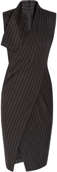 Donna Karan New York ~ Origami Wool-Blend Dress