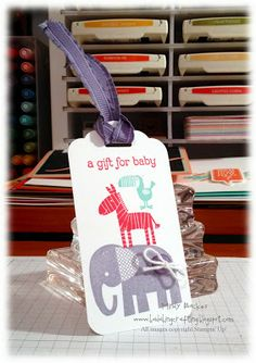 Zoo Babies gift tag