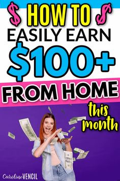 How to earn $100 this month or MORE from home FAST. #moneymakingtips #makemoremoney #makeextracash #moneymakingtips #sahmmomtips Make More Money, Make Money From Home, Extra Money, Make Money Online, Best Online Survey Sites, Survey Websites, Online Jobs For Moms, Quick Cash, Making Extra Cash