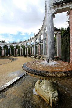 Formal colonnade at Versailles