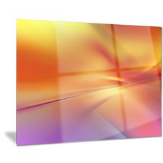 Designart 'Orange Red Wallpaper Art' Abstract Digital Art